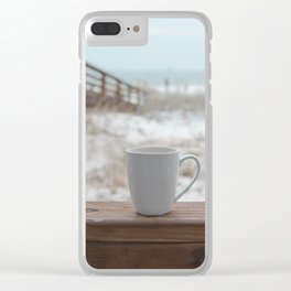 Cuppa at the Beach Clear iPhone Case