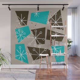 Mid-Century Modern Atomic Inspired Abstract Wall Mural
