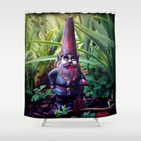 gnome Shower Curtains featuring Gnome Z by NeverlandDream