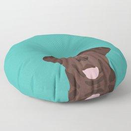 Chocolate Lab peeking dog head labrador retriever must have funny dog breed gifts Floor Pillow
