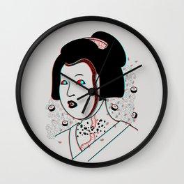 Psychedelic Geisha Wall Clock