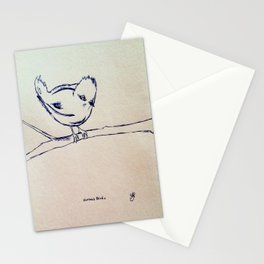 Curious Bird Ink Drawing Stationery Cards