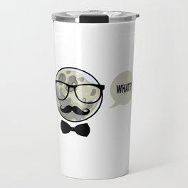 A confused moon Travel Mug