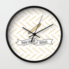 Penne For Your Thoughts. Wall Clock