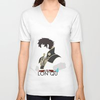 fire emblem V-neck T-shirts featuring Lon'qu / Lonqu Fire Emblem Awakening by MKwon