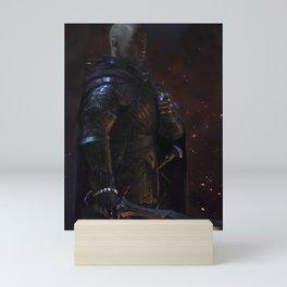 Knight-Captain - Black Mini Art Print