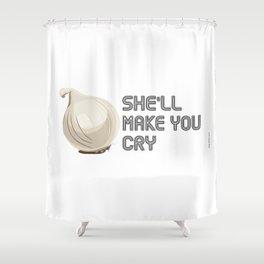 Onion Domination - Cleveland Condiment Race Shower Curtain