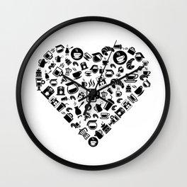 I Love Coffee | Caffeine Breakfast Sleep Wall Clock