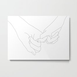 Pinky Promise Metal Print