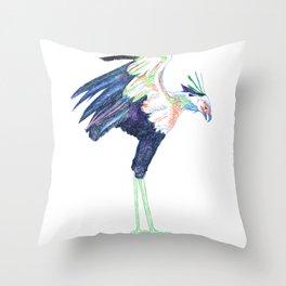 Secretarybird Throw Pillow