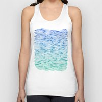 waves Tank Tops featuring Ombré Waves by Cat Coquillette