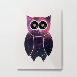 Owl Night Long Metal Print