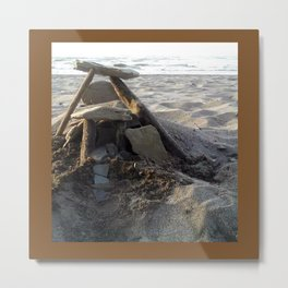 House on the Beach... Metal Print
