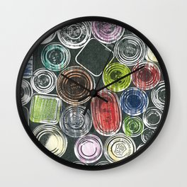 The painter's stuff Wall Clock