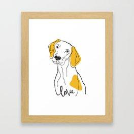 Dog Modern Line Art Framed Art Print