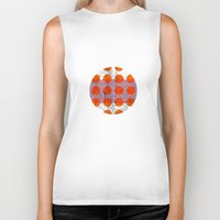 orange pattern Biker Tanks featuring Orange by FergusT