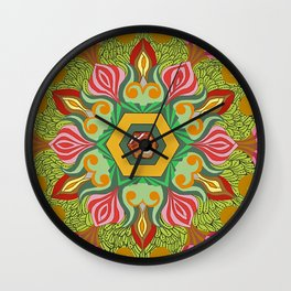 Swirls of Flowers and Lace Wall Clock