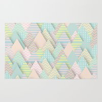 arnold Area & Throw Rugs featuring Forest Pastel by dogooder