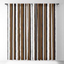 Chocolate Bar Jiggle Stripes Blackout Curtain