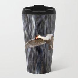 Swan in Flight Travel Mug