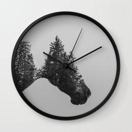 Trees of the Rockies Wall Clock