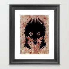Iron Wolf Framed Art Print