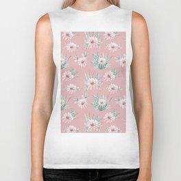 Echeveria Garden Roses Coral Rose Pink Biker Tank