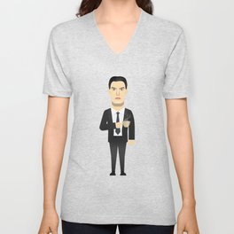 Watching The Detectives #3: Portrait Unisex V-Neck