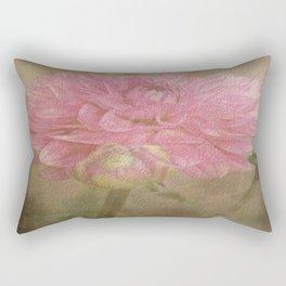 Soft Graceful Pink Painted Dahlia Rectangular Pillow