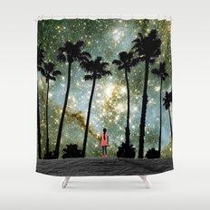 Paradise Galaxy Dream Shower Curtain