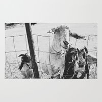 goat Area & Throw Rugs featuring Goat by Leah Flores