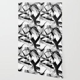 Black paper stripes Wallpaper