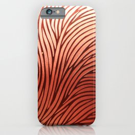 Red composition of multiple directional lines. iPhone Case