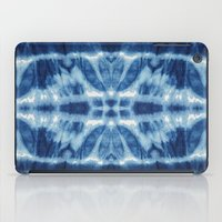 tie dye iPad Cases featuring Tie Dye Blues Twos by Nina May Designs