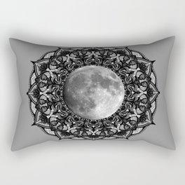 SILVER MOON MANDALA Rectangular Pillow