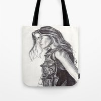 cassandra jean Tote Bags featuring Jean  by Alcnwndrlnd