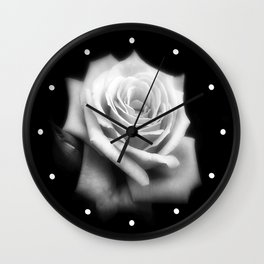 Pink Roses in Anzures 4 Dark Wall Clock