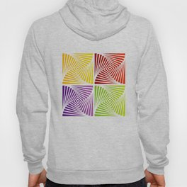 Colorful Squares twirling from the Center. Optical Illusion of PerspectiveColorful Squares twirling Hoody