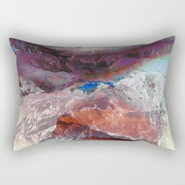 Painted cloudy mountain landscape Rectangular Pillow