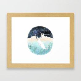 Beluga Dreams Framed Art Print