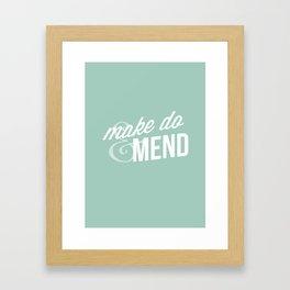 Make Do & Mend Framed Art Print