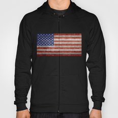 Flag of the United States of America in Retro Grunge Hoody