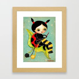 The Ladybug Knitter by Tascha Framed Art Print