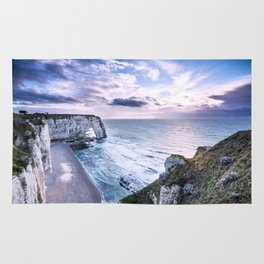 Natural Rock Arch -  ocean, coastal cliffs, waves, clouds, Rug