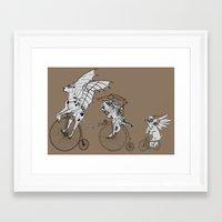 steam punk Framed Art Prints featuring Steam Punk Pets by Rebecca Pocai