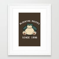 snorlax Framed Art Prints featuring Snorlax by jeice27
