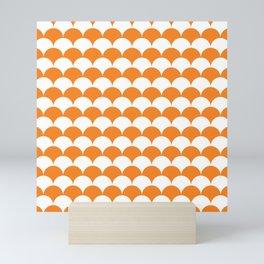 Orange Fan Shell Pattern Mini Art Print