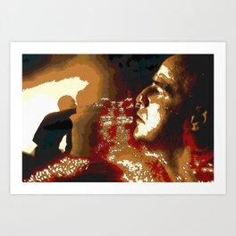 Death From Above Brando Apocalypse Now Art Print