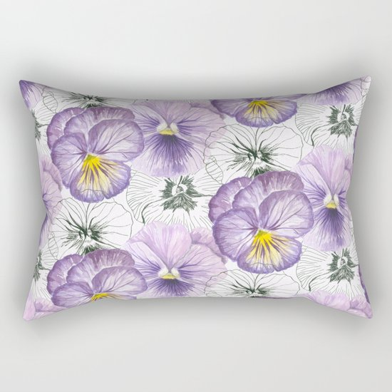 Pansy pattern Rectangular Pillow