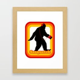 Retro Sasquatch Framed Art Print